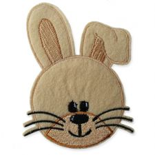 FlOPSY BUNNY MOTIF IRON ON EMBROIDERED PATCH APPLIQUE